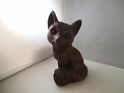 Red Mill Manufacturing Small Fox Figurine Figure Resin Crushed Pecan