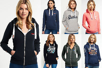 New Womens Superdry Hoodies Selection Various Styles & Colours