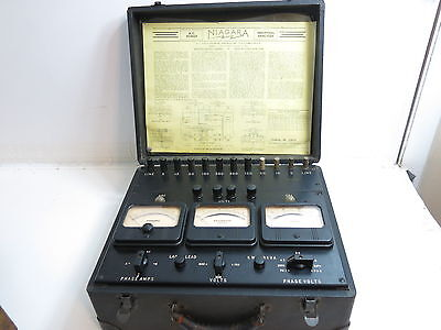 Antique Niagara Ac Power Industrial Analyzer Model 78A ~ Amperes Volts Kilowatts
