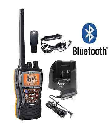 Cobra Marine Boat Floating 6W VHF Handheld Radio BLUETOOTH Black MR HH500 FLT