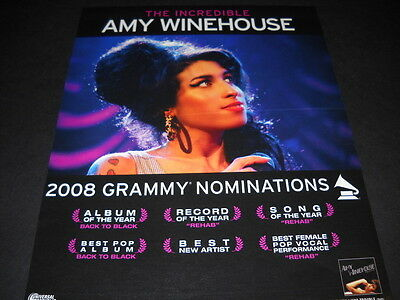 AMY WINEHOUSE Is Incredilbe with Grammy nominations 2007 PROMO POSTER AD