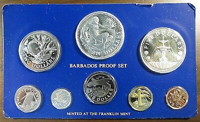 1976 Barbados Proof Set 8 Coin Set - 1.927 Actual Silver Weight