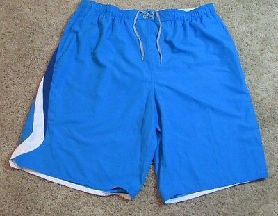 New Nwt Men's Size 4Xlt Nike Swim Trunks Royal Blue Mesh Lined + Tie In Front