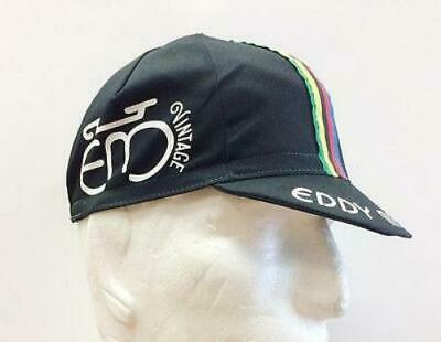 Eddy Merckx Vintage Cycling Cap in black - Made in Italy by Apis