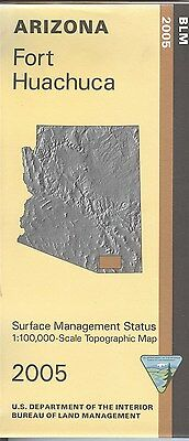 USGS BLM edition topographic map Arizona FORT HUACHUCA 2005