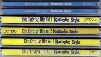 Kids Christian Hits Praise Worship 6 SET Karaoke Style NEW CD+G Daywind 36 Songs