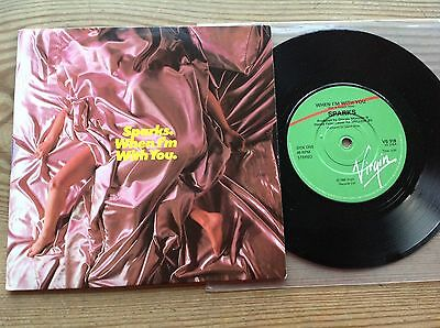 Sparks When I'm With You 1980 Virgin Uk Vinyl 7 Inch Single In Picture Sleeve Ex