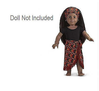 "American Girl ADDY AFRICAN DANCE OUTFIT for 18"" Doll Skirt Leotard Clothes NEW"