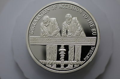 Portugal Pure Silver Proof Medal Entry Eu 1997 A63 Zm38
