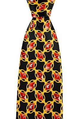 """Mens BRIONI Italy Red Diamonds dis.n.D010171 Hand Made Woven 3.25"""" Silk Tie NWT"""