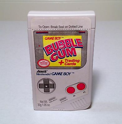 Vintage 1993 Amurol NINTENDO GAMEBOY Bubble Gum W/ Trading Cards candy container