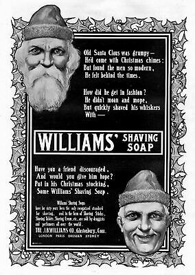 Santa Claus Promotes Williams Shaving Soap Put In Your Christmas Stocking Santa