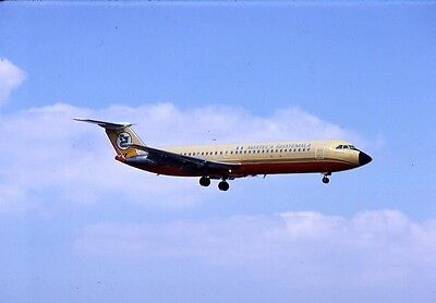 Original Slide:Aviateca Airlines BAC-111 TG-AZA landing at Miami in 1979