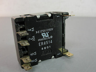 Otax Dip Dual Inline Position Switch 4 Position Er4514 8B01 125/250V Used Hvac