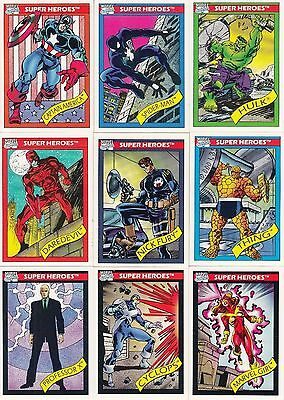 1990 Marvel Universe Trading Card Set 1-162 Wolverine Series 1