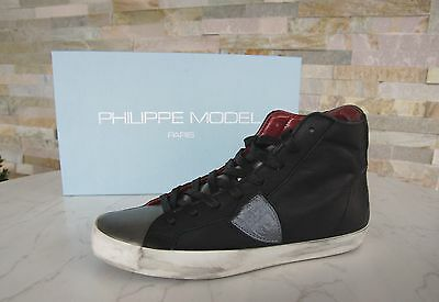 Philippe Model Size 38 High Top Sneakers Classic Alta Shoes New Previously