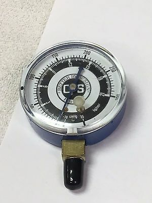 CPS CR500 Refrigerant Recovery Unit Part, Low Pressure Gauge, Part# 30-733