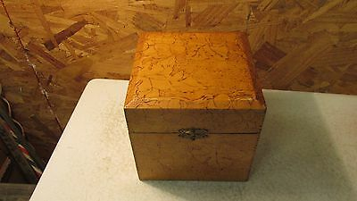 Antique Wood Pyrography Box Grapes & Leaves