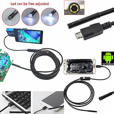 5M 6LED 5.5mm Android Endoscopio impermeabile Snake USB ISPEZIONE CR LOTTO