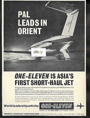 Philippine Air Lines Pal 1964 Chooses The Bac 1-11 Jets Leads In Orient Ad