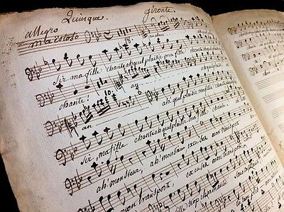 OLD MUSIC NOTES 1800s