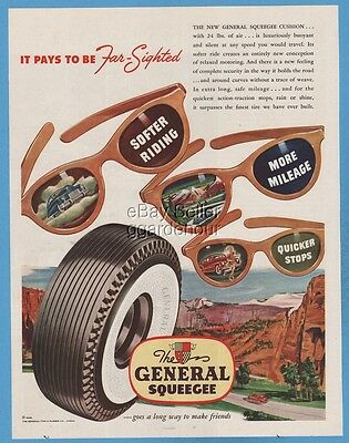 1948 General Tire & Rubber Company Akron OH Sunglasses glasses Vintage Print Ad