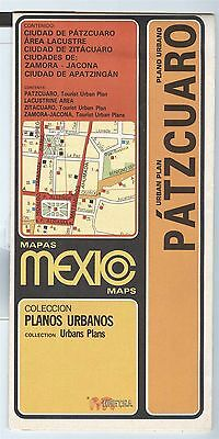 HEFT,S.A. Urban Plans Map Mexico PATZCURAO and others 1988