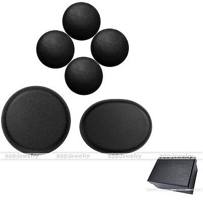 6pcs Black Health Energy Hot Stone Therapy SPA Massage Scraping Pressure Gift