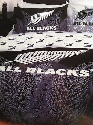 New Zealand All Blacks Rugby Reversible Single Size Doona Cover Set