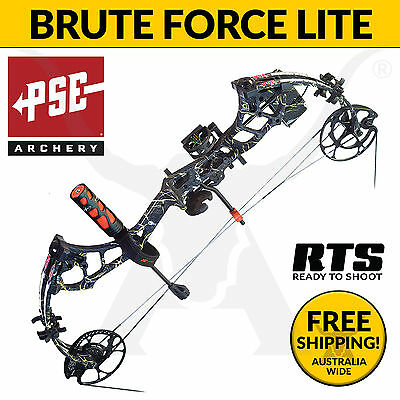 PSE Archery Brute Force Lite 2017 RTS Compound Bow - Bowhunting & 3D Target