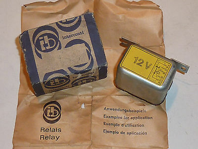 vintage IB INTERCONTI 12V made in germany RELAY relais VOITURE ANCIENNE oldtimer