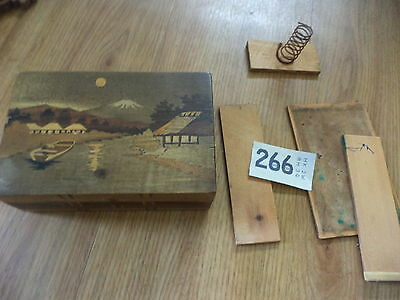 Vintage Japanese puzzle box for spares / repairs wooden box