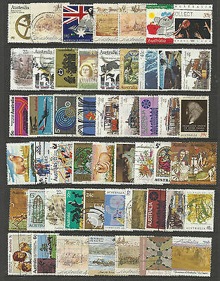 AUSTRALIA Collection 50 Different AUSTRALIAN DECIMAL Commemorative Stamps Used