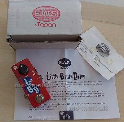 Ews Little Brute Drive Lbd Guitar Pedal Chitarra Overdrive W/box Mint Ww Ship