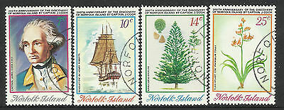 NORFOLK IS 1974 CAPTAIN COOK Discovery Norfolk Set 4v USED/CTO