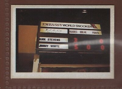 #74 The Electronic Scoreboard At The Embassy World  - Snooker Kings Sticker Card