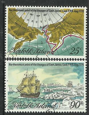 NORFOLK IS 1978 CAPTAIN COOK Northern Arctic Set 2v USED/CTO