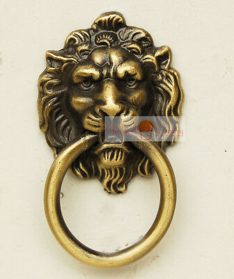 China Furniture Hardware Zinc Iron Alloy Lion Face Drawer handle Pull knobs 4pcs