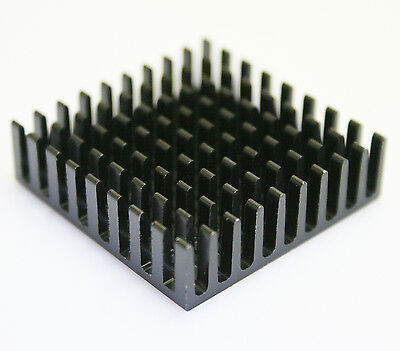 10pc Lots x 35*35*10mm Aluminum Black Heat Sink Chip for IC LED Power Transistor