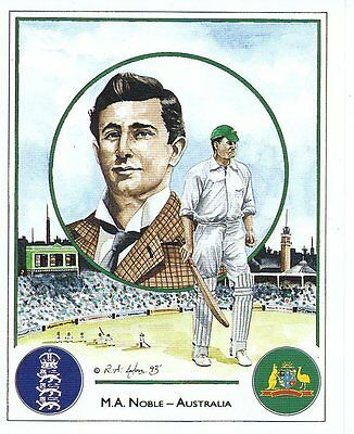 #8 M A Noble - Australia Captain Cricket Card