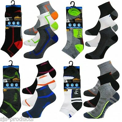 6 Pairs of Mens Running Trainer Socks Sports Liners Cotton Rich Size 6 to 11