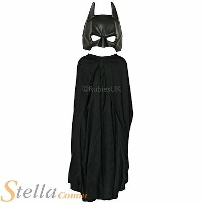 Child Batman Mask & Cape Set Dark Knight Superhero Fancy Dress Costume