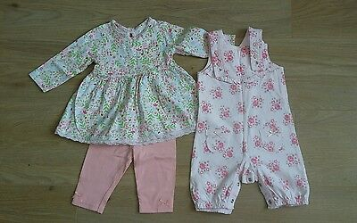 George Asda Baby Girls Outfit Bundle Size 0-3 Months
