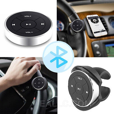 Car Bluetooth Wireless Media Button Steering Wheel Remote Control Fr iOS Android
