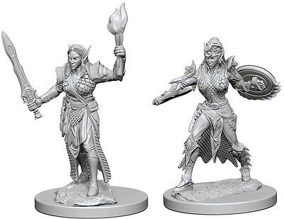 Elf Female Fighter - Dungeons & Dragons Pathfinder Primed 25Mm Minis