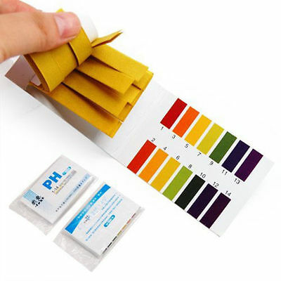 PH Test Kit Strips Tropical Aquarium Pond Water Testing 1pH - 14pH Litmus Paper