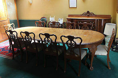 18th 19th Century Style Large Georgian Mahogany Dining Room Suite