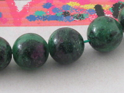 2 Stones In Zoisite And Inclusions Ruby 12 Mm