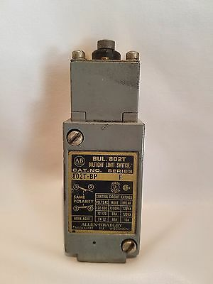Allen Bradley 802T-BP Series F 802TBP Limit Switch w/ 40146-013-59 Operator Head