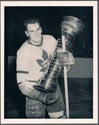 1945-54 Quaker Oats Photo Toronto Maple Leafs #1C Syl Apps/Away With Stanley Cup